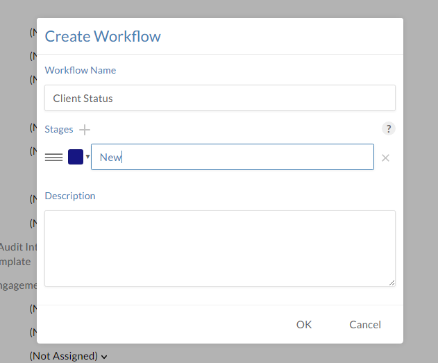 Build and manage workflows from the Create Workflow dialog