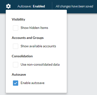 Dynamic table settings - enable autosave