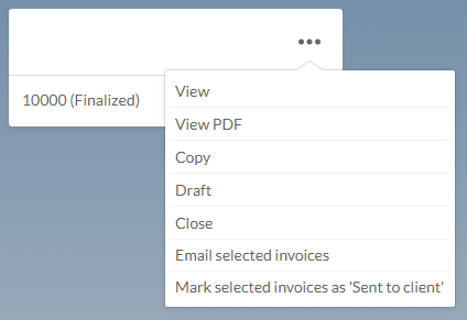Email selected finalized invoices
