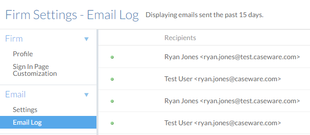 Email log